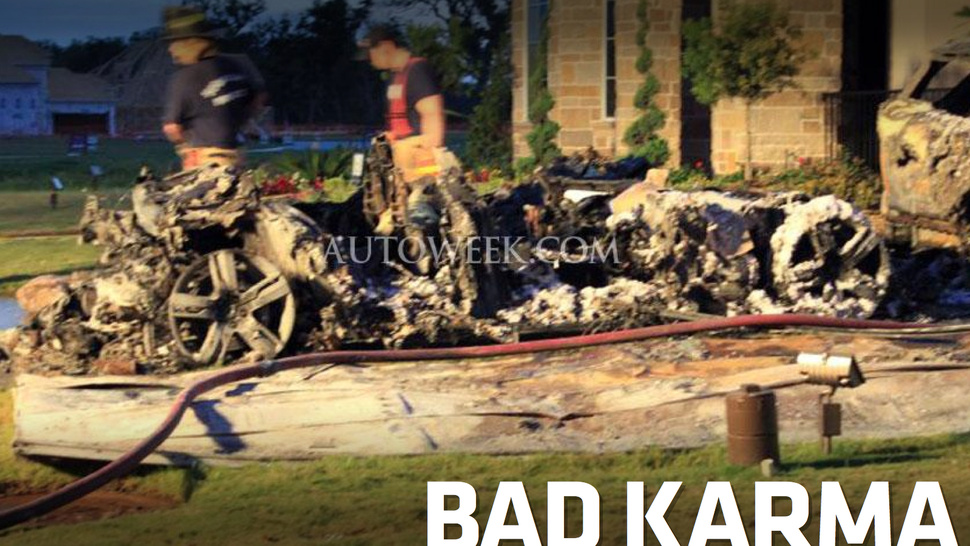 Brand New Fisker Karma Blamed For House Fire