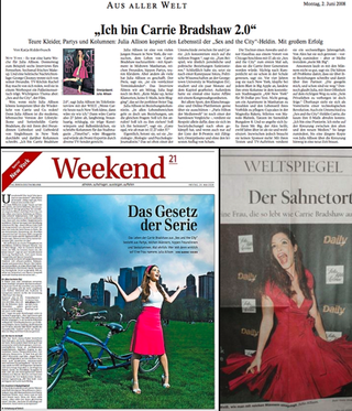 "Julia Allison's German Press: ""Ich Bin Carrie Bradshaw 2.0"""