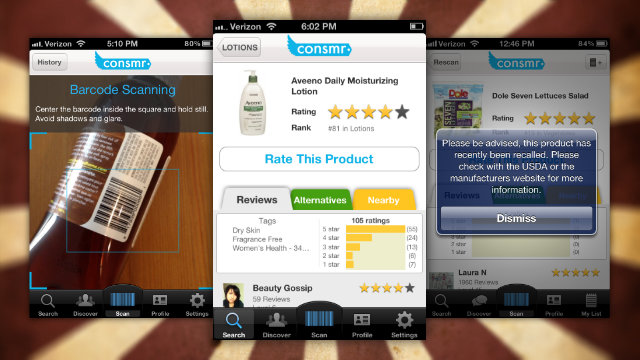 Click here to read Consmr for iPhone Brings Product Reviews, Ratings, and Recalls Into the Grocery Store With You