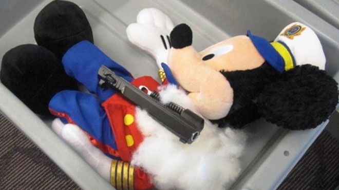 TSA Finds Gun-Stuffed Mickey Mouse In Four-Year-Old's Luggage