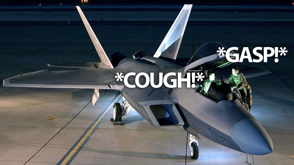 Click here to read F-22 Ground Crews Are Also Having Mysterious Breathing Problems