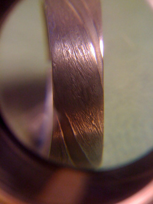 This guy hand-forged his own wedding ring. OUT OF A METEORITE.
