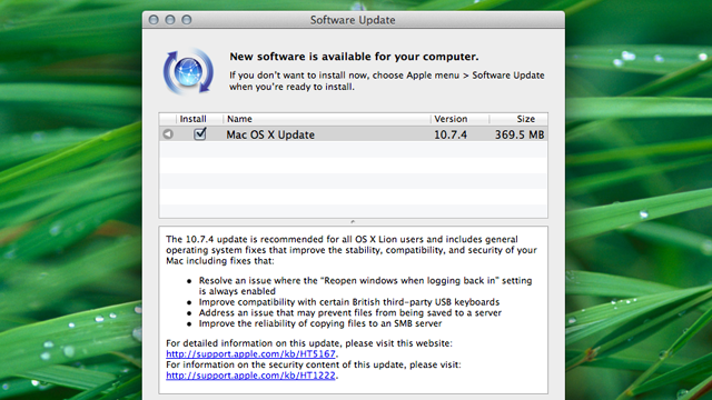 Click here to read Mac OS 10.7.4 Update Is Out; Fixes Bugs with Resume, the Finder, and More