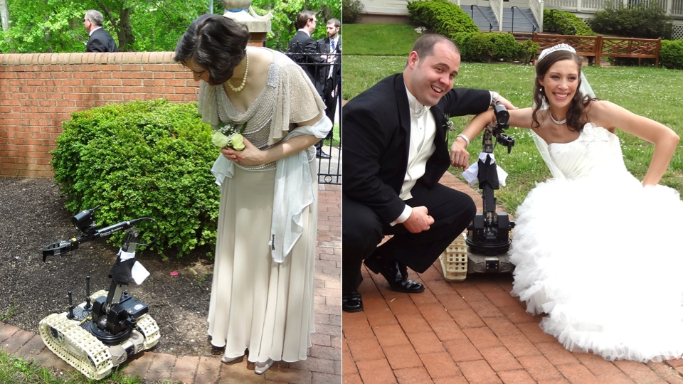 Click here to read Warzone Robot Makes Wedding Super Cute
