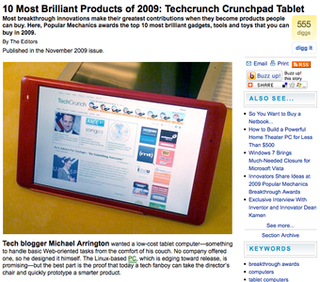 The Sad, Premature Death of the TechCrunch Tablet