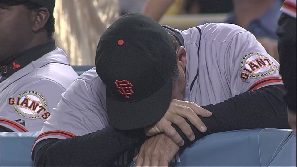 Bruce Bochy Just Can't Bear To Watch Anymore