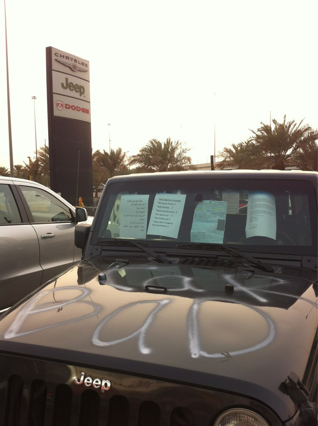 Kuwaiti Dealership Jeep Photos