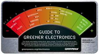 Sony Ericsson and Samsung Top Greenpeace Green List; Nintendo Worse Than Exxon on Crack?