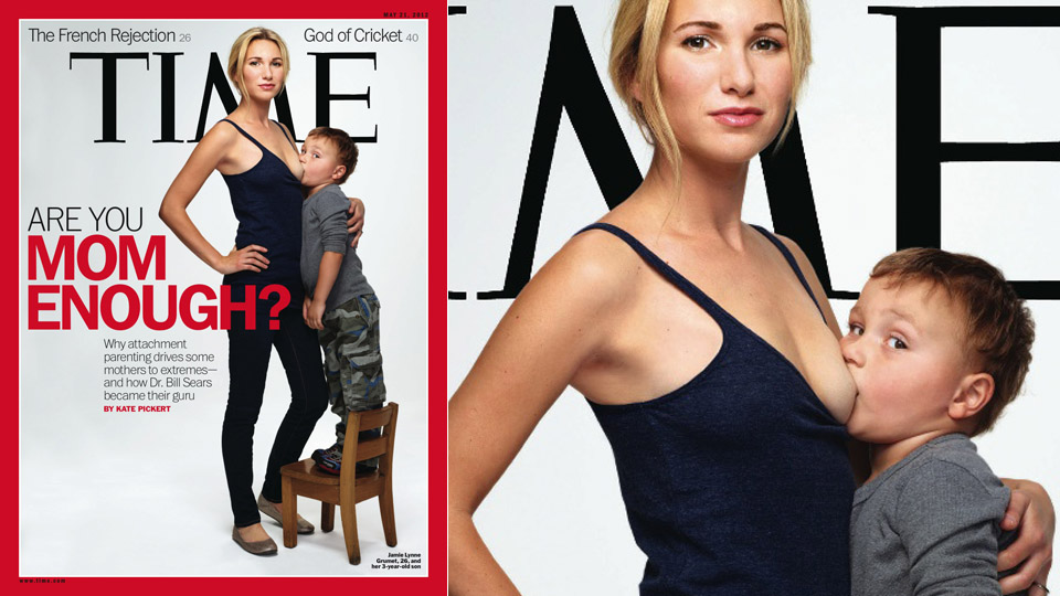 Click here to read Mom Puts Boob in Preschooler's Mouth on Cover of <i>Time</i>