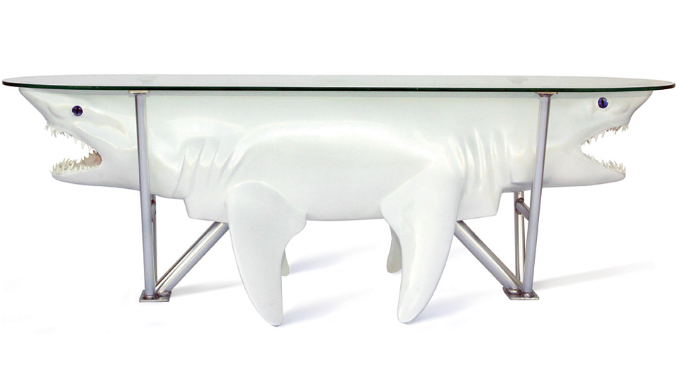Double-Ended Shark Coffee Table Oozes Great White Class