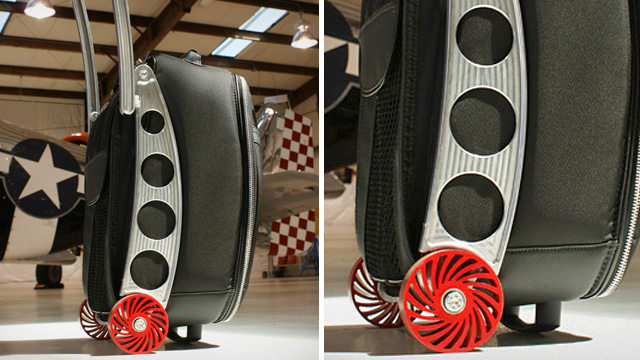 Click here to read This Suitcase's Shock-Absorbing Wheels Can Traverse the Roughest Terrain
