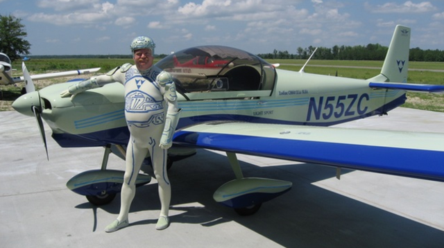 Tron Guy Buys Custom-Painted Aircraft To Match Tron Outfit