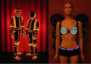Daft Punk's Designer Shows DIY Glowing Outfit Tricks