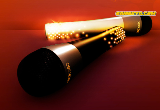 "Xbox 360's ""Lips"" Karaoke Game Microphone Has Motion Sensing, Vegas Lounge Lights"