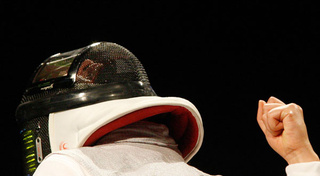 The Tech Inside Olympic Fencers' Amazing Future-Warrior LED Helmets