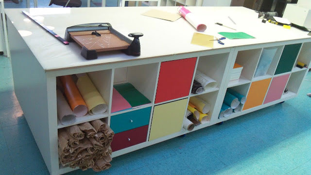 Create A Large Mobile Workstation Out Of Ikea Bookshelves