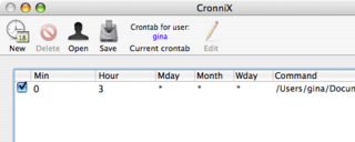 Download of the Day:  CronniX (Mac)