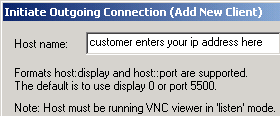 Tech support with VNC reverse connections
