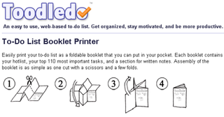Turn your Toodledo to-do list into a printed booklet