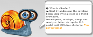 eSnailer sends snail mail from the web