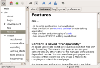 Build desktop wikis and outlines with Zim