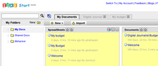 "Zoho Start Page is Your Web-based ""My Documents"" Folder"