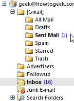 Using Gmail IMAP in Microsoft Outlook 2007