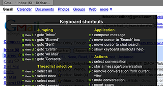 Gmail Now Includes Pop-Up Keyboard Shortcut Guide