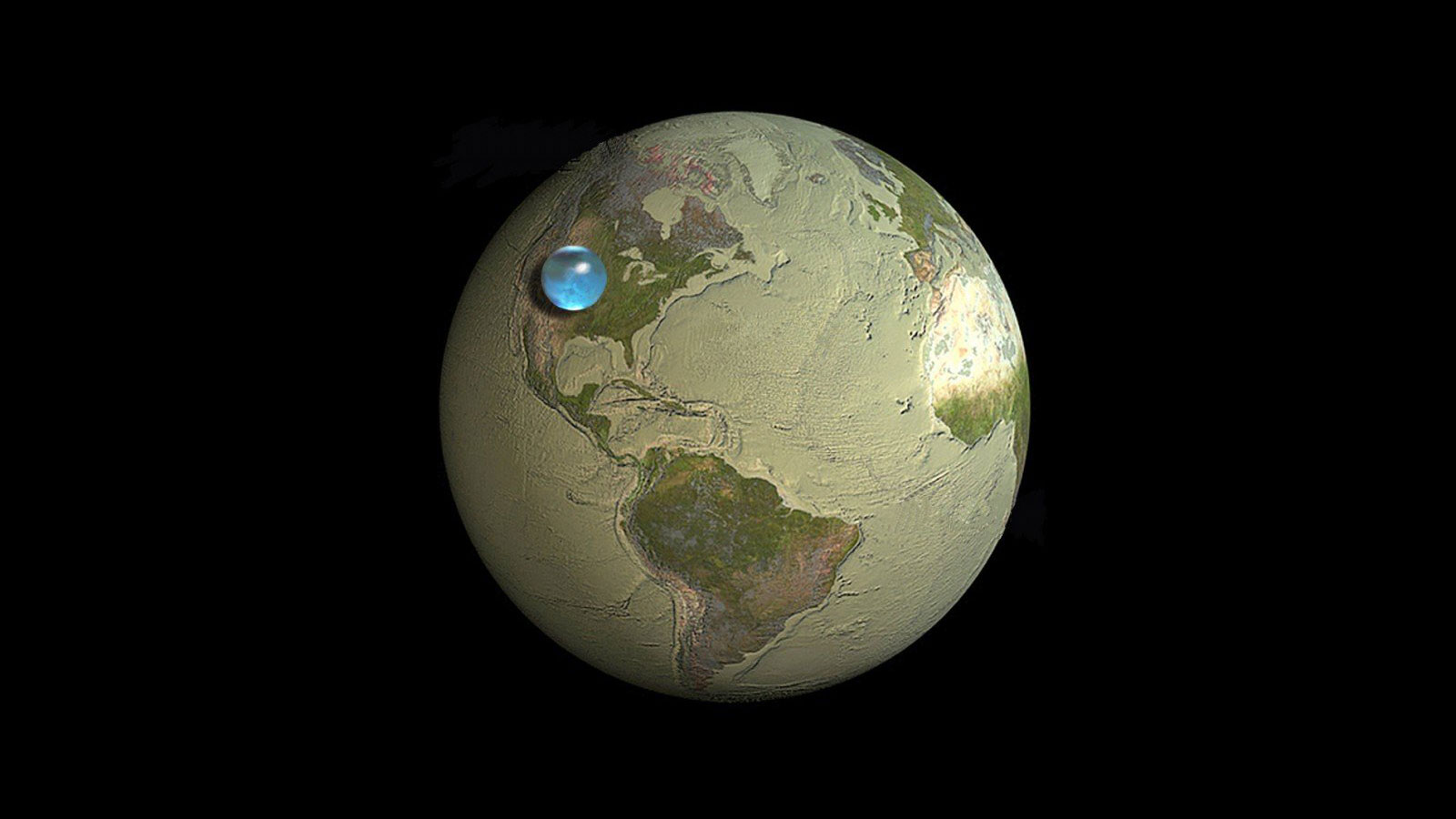 Click here to read Truly Awesome Picture Perfectly Shows How Little Water There Is On Earth