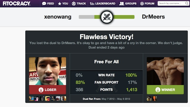 Fitocracy Unveils Player-Versus-Player Battles for All Of Your Competitive Exercise Needs