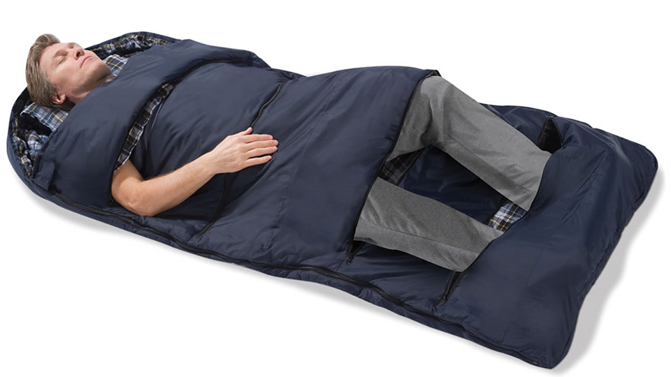 Customisable Sleeping Bag Lets You Peel Back Layers To Stay Cool