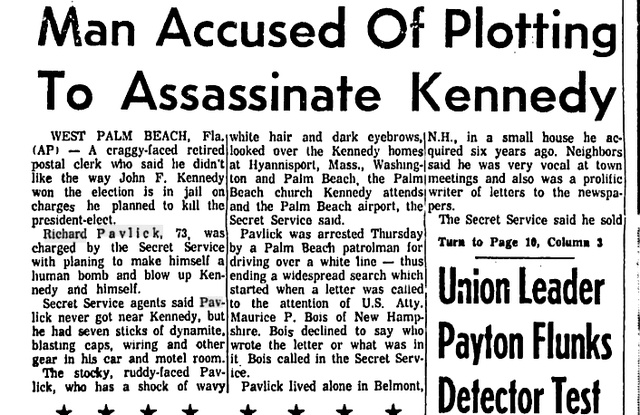 A 73-Year-Old Man Tried to Assassinate JFK with a Buick Full of Dynamite