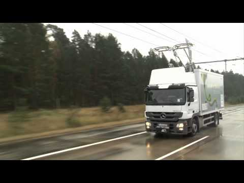 Click here to read Overhead Electric Lines for Trucks Are Coming to California