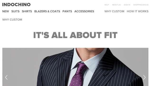 Most Popular Online Custom Clothing Store: Indochino