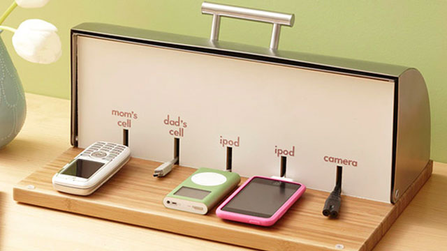 original Convert a Bread Box into a Charging Station
