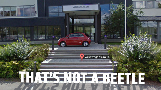 Fiat Photo Bombs Volkswagen With Elaborate Street View Prank