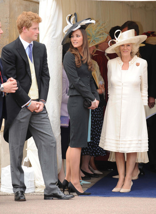 Prince Harry Keeps His Distance From Kate Middleton & Camilla