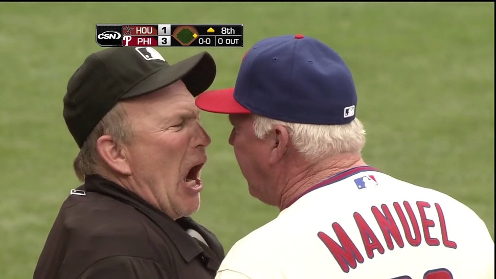 Bob Davidson's Ejection Of Charlie Manuel Today Featured More F-Bombs Than A Tarantino Film