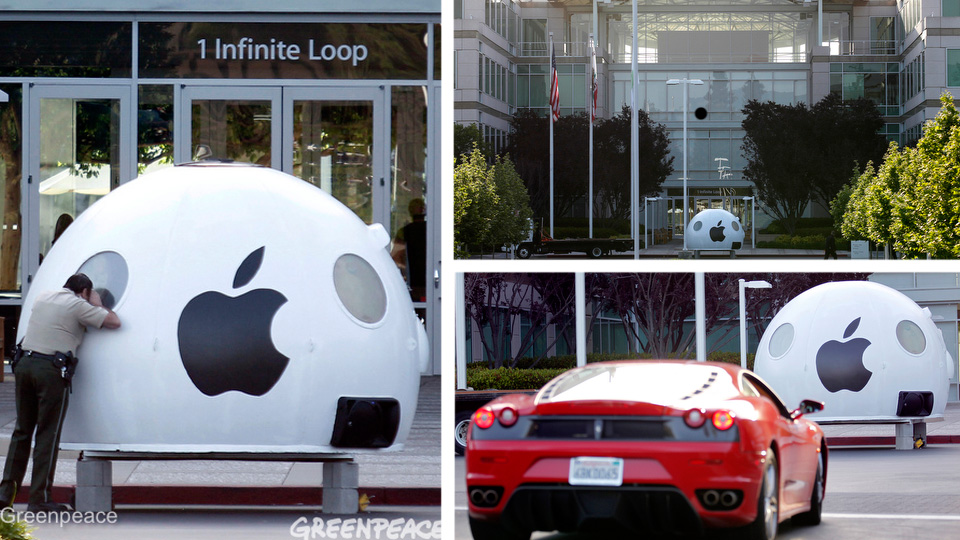 Greenpeace Invades Apple's Headquarters