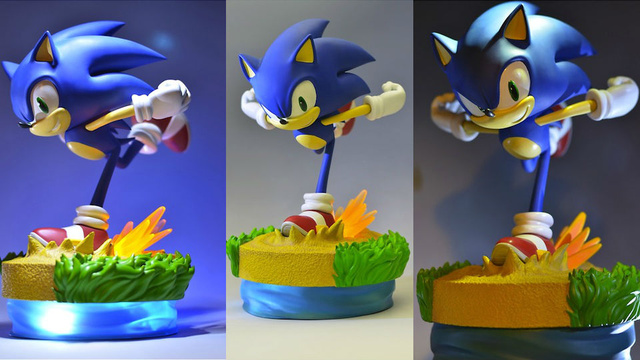Sparks Fly As This Sonic Figurine Sprints Through Emerald Coast