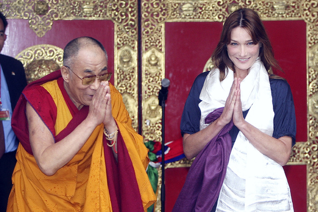 Carla Bruni: Well, Hello, Dalai