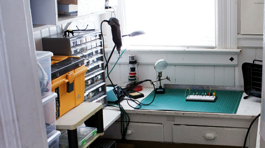 The Electronics Lab Hidden In A Kitchen Pantry