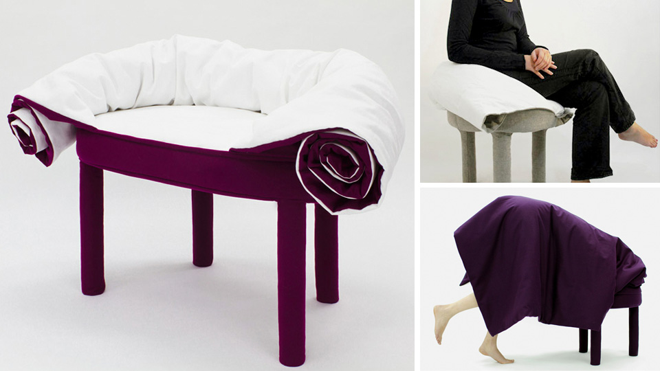 Roll-Up Blanket Chair Gets Extra Cosy If You Can Figure Out How To Use It