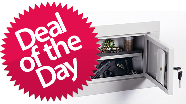 Click here to read This Pistol Wall Safe Is Your International-Person-Of-Mystery Deal of the Day