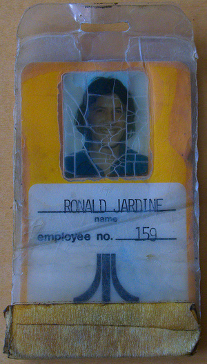 Welcome to Atari, Sir, Here's Your 1973 ID badge