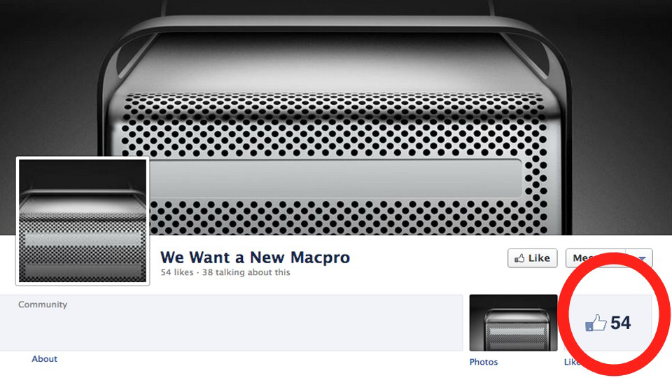 Click here to read Mac Pro Fans Launch Sad Facebook Campaign For Upgrade