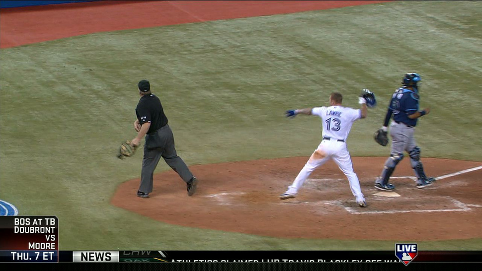 "A Commemorative GIF Of Brett Lawrie's ""Unlucky"" Helmet Spike That Hit Umpire Bill Miller And Earned Him A Four-Game Suspension"