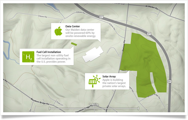 Apple's Data Centres Will Be Powered Entirely By Renewable Energy