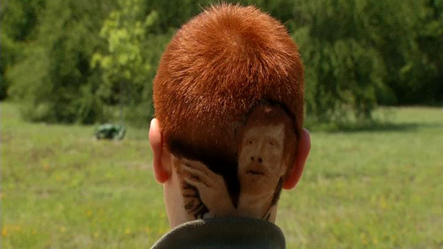 Kid Disciplined for Having an Insanely Detailed Matt Bonner Haircut; Design Looks like Chuck Norris Anyway