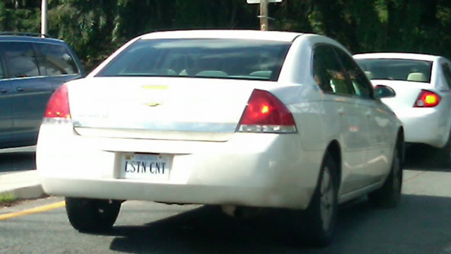 The Ten Worst License Plates Ever Approved